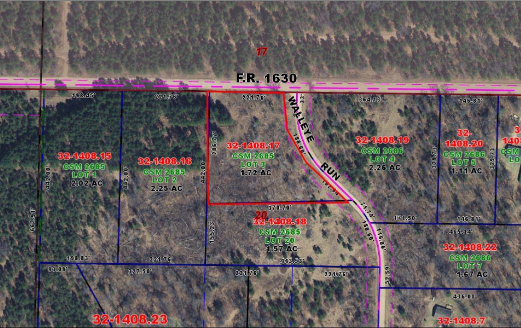 View Vacant Land For Sale at Lot 3 Walleye Run, Crivitz, WI