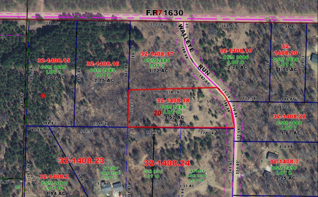 View Vacant Land For Sale at Lot 20 Walleye Run, Crivitz, WI