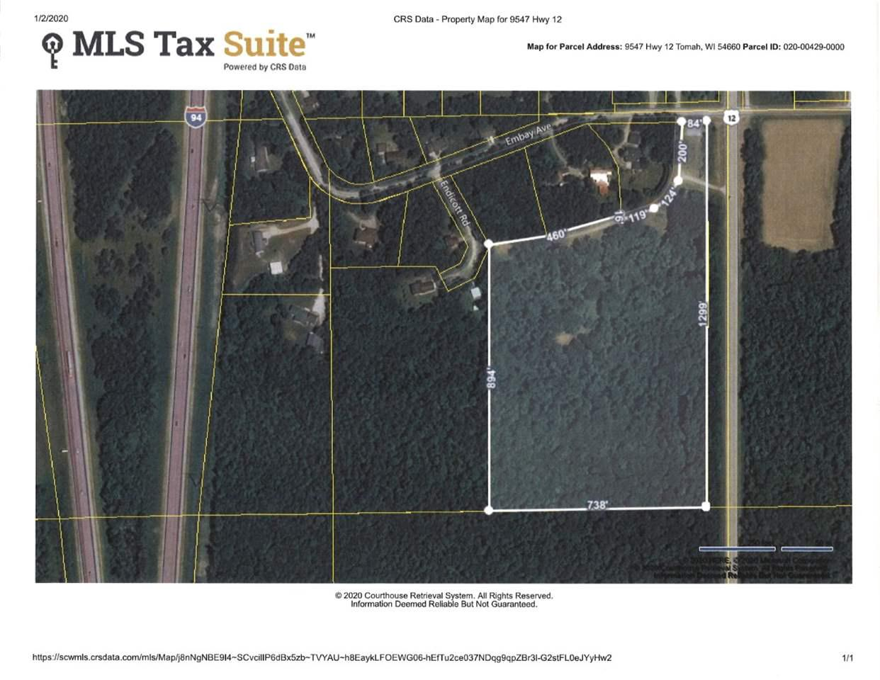 View Vacant Land For Sale at 9547 Hwy 12, Tomah, WI