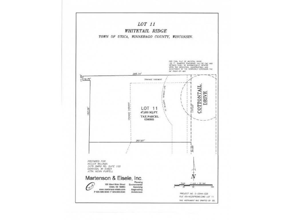 View Vacant Land For Sale at 1923 COTTONTAIL DRIVE, Oshkosh, WI
