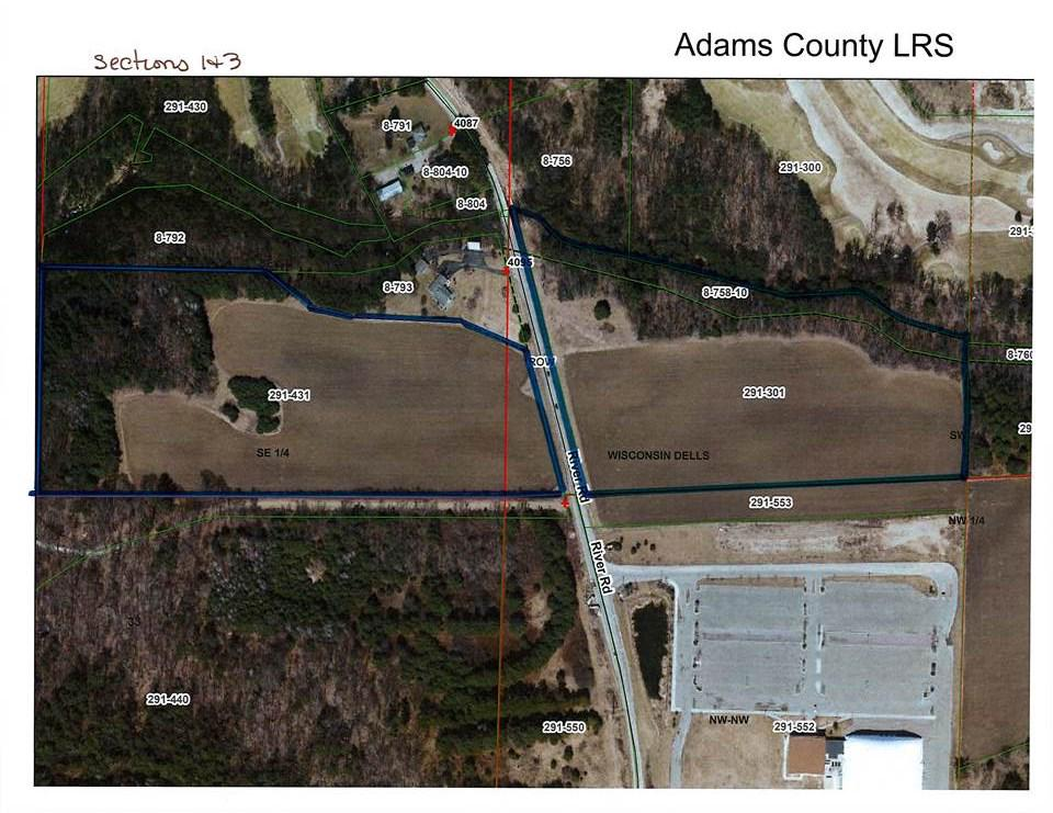View Vacant Land For Sale at 34.21 AC River Rd, Wisconsin Dells, WI