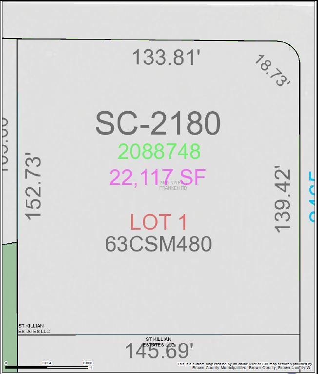 View Vacant Land For Sale at 2465 N NEW FRANKEN ROAD, New Franken, WI