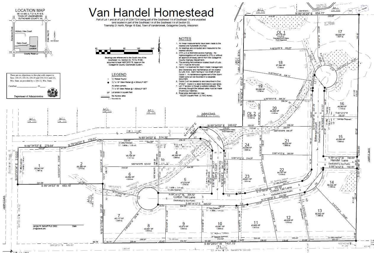 View Vacant Land For Sale at COTTON TAIL LANE, Kaukauna, WI