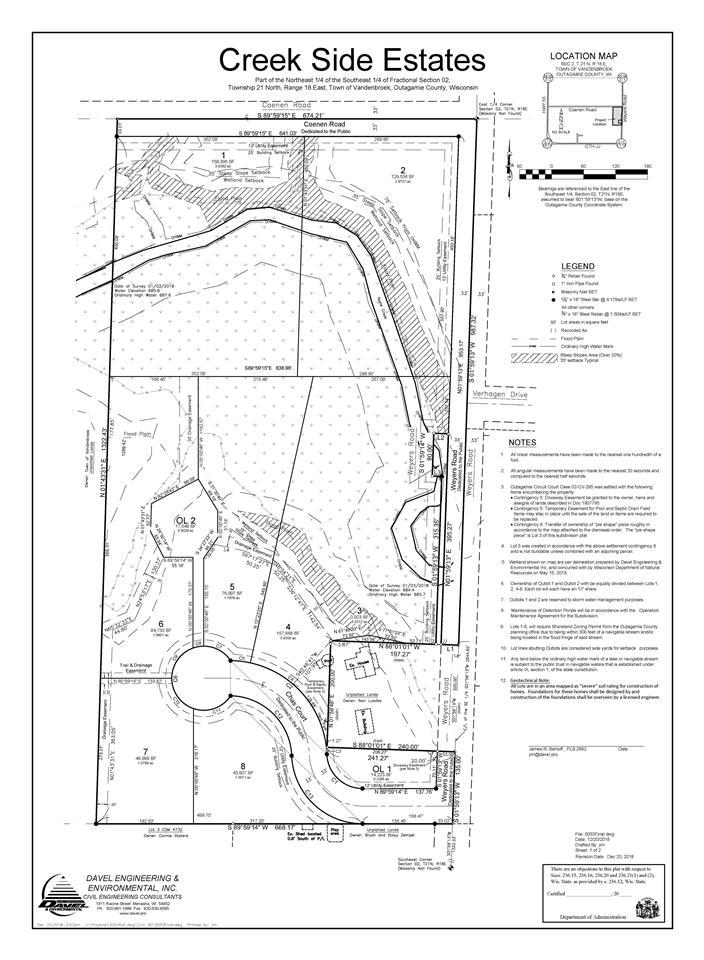 View Vacant Land For Sale at CHAS COURT, Kaukauna, WI