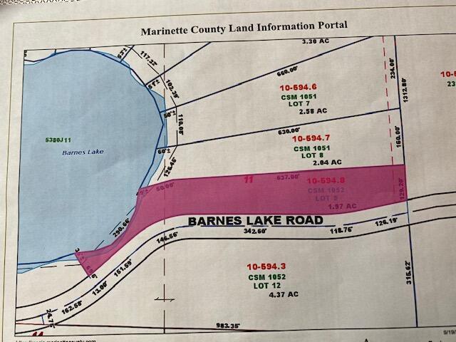 View Vacant Land For Sale at Lt9 Barnes Lake Ln, Dunbar, WI