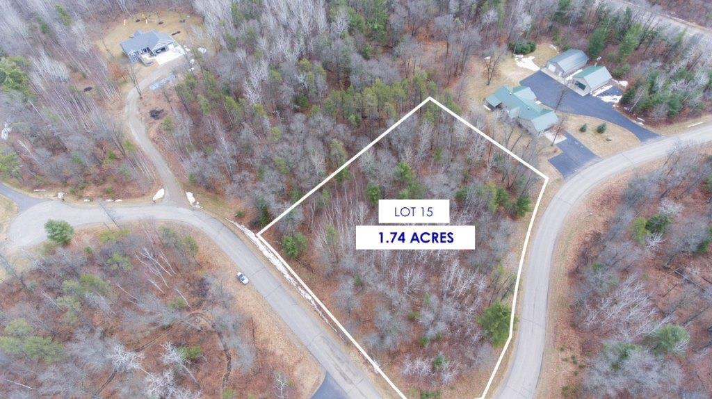 View Vacant Land For Sale at Lot 15 WIND SONG ROAD, Tomahawk, WI