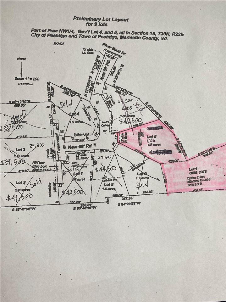 View Vacant Land For Sale at SHOREWOOD LANE, Peshtigo, WI