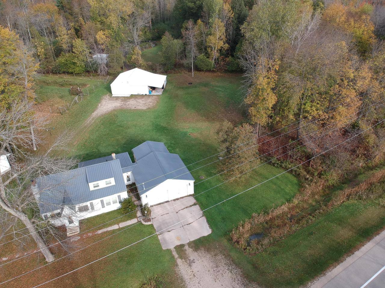 View Single-Family Home For Sale at N1061 State Hwy M-35, Abbotsford, MI