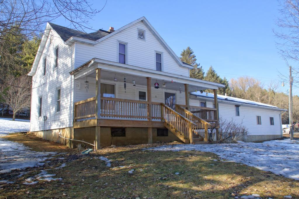 Set among the Modena bluffs in a quiet valley is this 5+ Bdrm Hobby Farm incl. 10 acres of woods, fenced pasture & spring fed creek in a prime hunting area. Enjoy the views & wildlife on the 8x28 country porch. Many updates between 2016-2018 including: (per seller) Metal roof, electric, Lean-to, hydrant well pump & pressure tank for barn, Furnace/AC, water heater, insulation, & more. Home has 26X26 addition w/basement, wood floors. Your dreams of a peaceful hobby farm can come true!