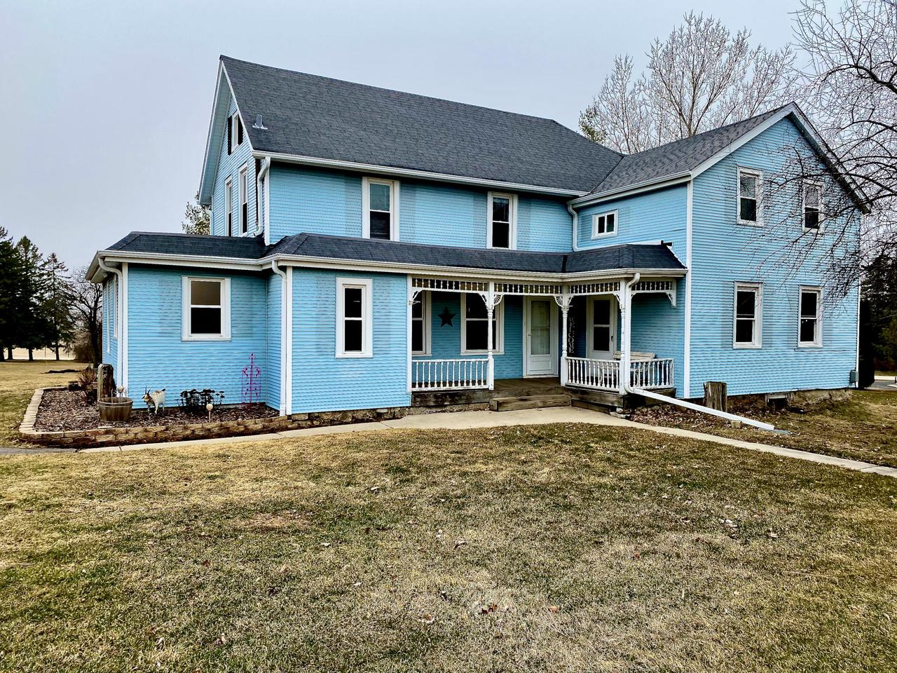 Welcome home to this gorgeous farmhouse in the perfect location!  This home has been completely remodeled throughout!  New luxury vinyl flooring and new carpet throughout main level!  Snuggle up next to the pellet stove in your extra-large living room with so much character!  Enjoy your stunning farmhouse kitchen with quartz countertops, breakfast bar that seats three, and huge walk-in pantry with rustic sliding door!  Full bathroom off kitchen has been beautifully updated with subway tile in the shower!  First-floor laundry/mudroom with full closet!  Upstairs you'll find your huge master bedroom as well as two additional bedrooms and an absolutely massive full bathroom!  Two acres of land mean you'll have room to roam!  Brand new mound system to be installed by seller prior to closing!