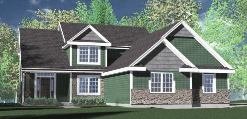 Welcome to Foxwater Bay ! Kaerek Homes  Wilshire Prairie 4 brm. 2.5 bath two story w/3 car attached courtyard garage.  L shaped kitchen w/island and walk-in pantry. Large elongated dinette opens to living room w/ two long walls & direct vent gas fireplace.  First floor laundry and mud room w/built in storage lockers. Master bedroom w/tray ceiling, dual walk-in closets and dual head ceramic tile shower /dual vanities.  Three additional bedrooms w/family bath to second floor. One bedroom w/architectural ceiling and functional dormer . Pre-finished Hardie Plank Siding , pre-finished LP shakes in gable ends, Pre-finished Smart Trim corner boards & window surrounds. Alum. Fascia , soffit, gutters & downspouts.  Egress window w/area well, Radon Abate, Deeded access to Tichigan Lake ! w/carry in!