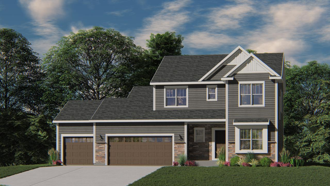 New Construction - Ready in June 2020! The Bridgeport model features 4 BR's 2.5 BA's and a 1st floor Flex Room with french doors. The Kitchen offers plenty of storage space complete with a large kitchen island, quartz countertops and a walk-in pantry. The Family Room includes a corner gas fireplace with beautiful stone to ceiling detail. The Owner's Suite features two walk-in closets, ceramic tile floors & shower in the bathroom and a double bowl vanity. Other Highlights include a large Family Foyer with Locker Cabinets and a Drop Zone, 2nd floor Laundry, 3 car garage and MUCH MORE!