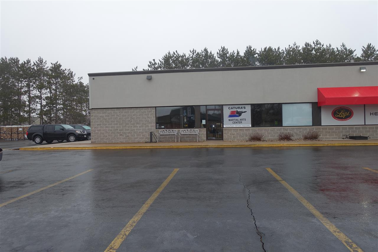 Great location and price point.  Located Just off US Highway 10 between Target and Fleet Farm, next to Snowbelt Fireplace.  Affordable commercial space for lease.  Approximately 2500 square feet at $10.00/SF gross lease.  Tenants pay for electric, natural gas, sewer and water. Men and women?s bathrooms, two changing areas, front reception, office and large open area. Currently used as a Karate Studio.  Available June 1st, 2019.  Contact Listing Agent for further details.  Suite 1200B