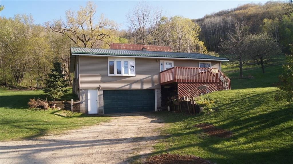 Beautiful 3 bed, 2 bath home located in the scenic Waumandee Valley area. Property has an additional home, barn and a few old growth apple trees. Taxes and acreage are approximate. Property is about 20 min. from Arcadia and 40 min. from Winona. Can also purchase entire 41.75 acres with a 40x60 Morton Pole Building for $289,000.