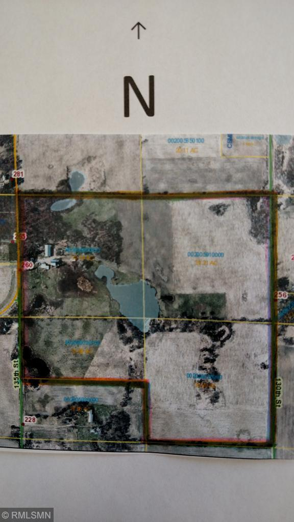 Welcome to your golden opportunity to own 138.5 contiguous acres of beautiful, rolling land perfectly located just 30 minutes from Stillwater and centrally situated between New Richmond and Amery.  This is scenic country, perfect for your dream home, hobby farm or development interests.  There are several very lovely ponds and patches of woods.  You can easily imagine a vineyard or golf course here.  New roofs on some outbuildings and on the house, July 2018.  Parcel # 002005910000 is also included as part of this listing.  There is more land available as well just across the road (139.4 more acres all together which includes grain bins).  Please contact the listing agent for more information.