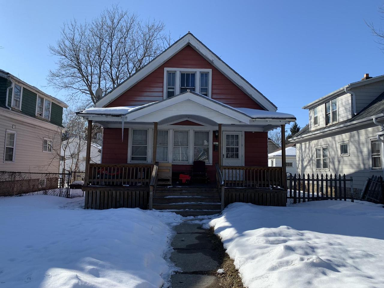 Attractive single-family home with large front porch. It would be great for owner occupancy, as well as rented out. Currently there is a tenant on lease until 6/24/2020 and would like to stay. Current rent is $600, which is low. There is parking in back off the alley.  NEW ROOF AND GUTTERS WERE JUST INSTALLED. Property is sold as is. Schedule you showing today!
