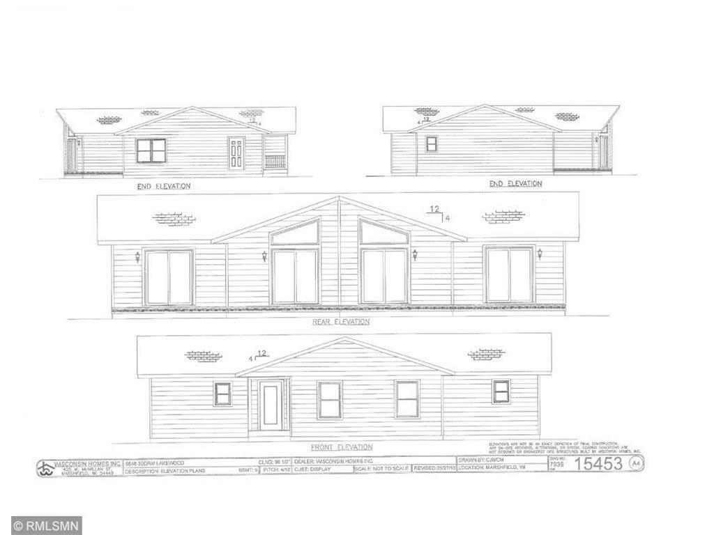This To Be Built home is ready to be built for you! Now is your chance to own an amazing piece of land with deeded access to the Apple River and there is an abundance of wild life for those who are ready to do some hunting! Check out the photos and picture your new home being built to your taste on this acreage leaving plenty of space to utilize the land however you'd like. Plenty of space for ATVs and snowmobiles or exploring the land.