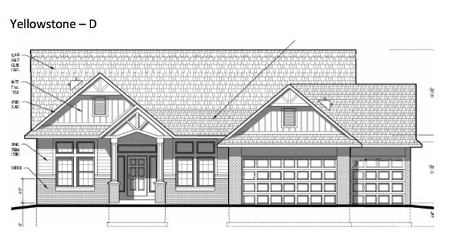 "Est. Completion 5/31/21. Vulcan Building LLC presents their Yellowstone floor plan. Beautiful open concept 2040sqft ranch with 10ft ceilings. 3bed/2bath/3car. White solid wood doors and trim. Granite countertops in kitchen & bathrooms. Kitchen complete with island, walk in pantry, and 42"" furniture grade, soft-close cabinets. Tile surround in shower & tub. Stainless steel dishwasher, stove, & microwave. Upgraded carpet. Office/Formal Dining. Master suite with bay windows, private bath with dual vanity, and walk-in closet. First floor laundry. 2x6 exterior construction. Full basement with egress window and preplumbed for a bath! Includes driveway, sodded yard (per plan), and central air. One year builder comprehensive warranty! Photos representative of floorpan and may include upgrades."