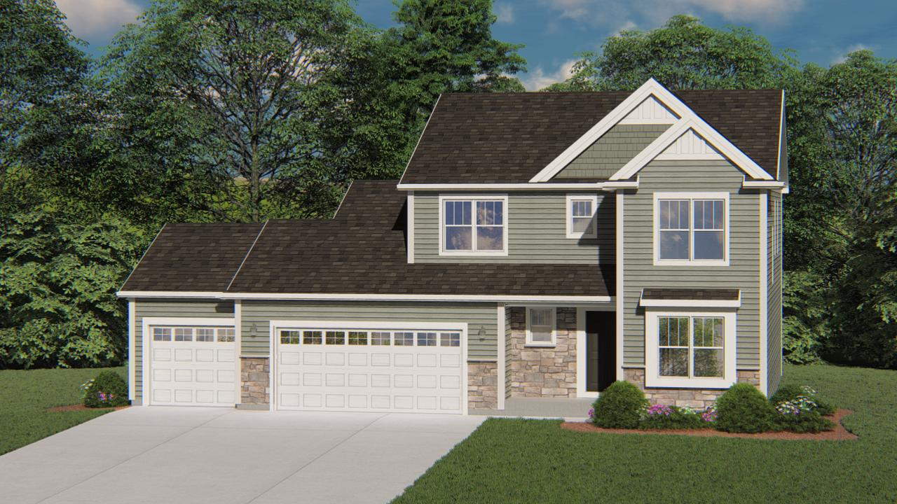 New Construction! Ready in January 2021 - The Bridgeport model features 4 BR's, 2.5 BA's and a 1st floor Flex Room for additional living space. The Kitchen offers plenty of storage space complete with a large kitchen island with upgraded quartz counter tops and a corner walk-in pantry. The Family Room includes a corner gas fireplace with beautiful stone to ceiling detail. The Owner's Suite features two Walk-In Closets and a box tray ceiling. Other Highlights include a large Family Foyer with a walk-in closet, 2nd floor laundry, 3 Car Garage, full bath rough in lower level and MUCH MORE!