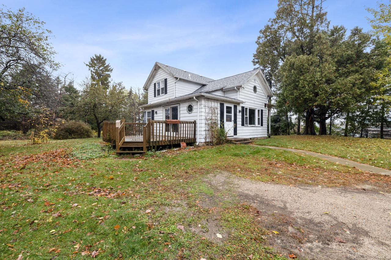 Unique opportunity to own 37+ stunning acres of your own HUNTING/FARM LAND in the middle of Hartford! Game trails present! 21 acres agriculture, 14 acres forest, and 2 acres homestead. Bring your big ideas and make the 2 story farmhouse your custom cozy home. Spend time with the family around the wood burning fireplace and enjoy the porch with custom wood work detail. Bring the pets, farm animals, and all the toys, there's plenty of room in the 2 story barn! The 2 story, 2 car garage, and workshop is the perfect place for all your projects! Schedule a showing today, this amazing property won't last long! This property is an estate sale. Personal Representative has never lived on premises. Property is under a Conservation Easement. Please read CE documents. Property Sold ''As Is'