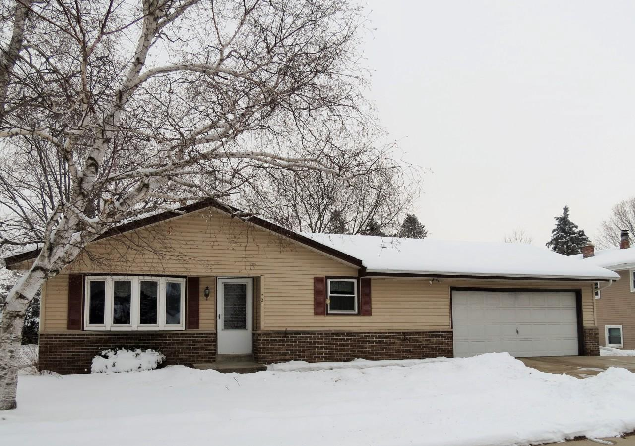 This comfortable family ranch is ready for you to make your move. Step into the living room with bay window and newer carpeting. Kitchen is enhanced with full wall cabinets, appliances and newer kitchen flooring. Main floor family room can also be used as formal dining room with built-in cabinet. Master bedroom has newer carpeting. 2 additional bedrooms. Entrances to half bath off family room and master bedroom. Full bath offers vanity, shower over tub and newer flooring. Full basement adds loads of potential. Freshly painted interior.  Back yard features concrete patio and garden shed. Partially fenced yard. 2.5 car garage. Newer roof. Some newer windows. Close to shopping and freeway. HSA Home Warranty!