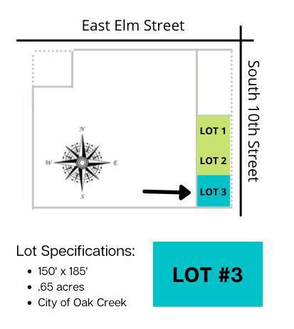 Lt3 10th Ave AVENUE, OAK CREEK, WI 53154